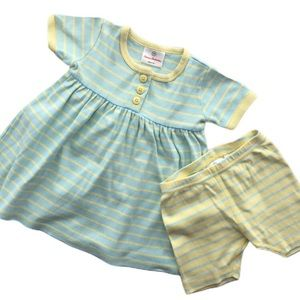 Hanna Andersson 2 PC Knit dress shorts 18-24 mos